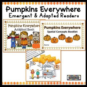 Pumpkins Emergent Reader  Adapted Reader Prepositions Spatial Concepts