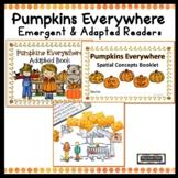 Pumpkins Emergent Reader  Adapted Reader Prepositions Spat
