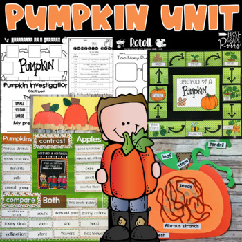 Pumpkin Fun: Reading, Word Work, Writing, Lifecycle and a Craft