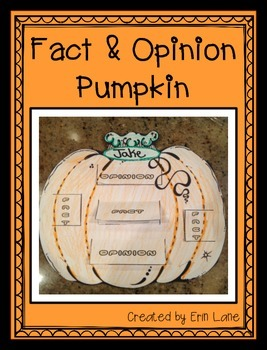 Pumpkins- Fact and Opinion Pumpkins (bulletin board display too)!