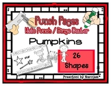 Pumpkins - Fall / Autumn - 26 Shapes - Hole Punch Cards /