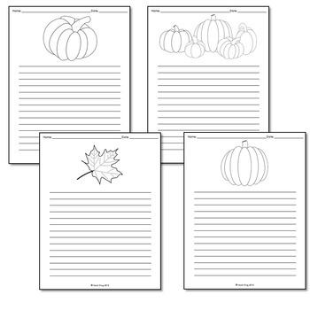 Fall Seasonal Writing Paper Set