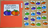 "Pumpkins File Folder Game: ""Pumpkins Color Sort I"""