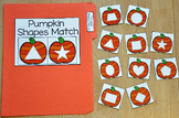 "Pumpkins File Folder Game: ""Pumpkins Shapes Match"""