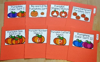 Pumpkins File Folder Games Mini-Bundle