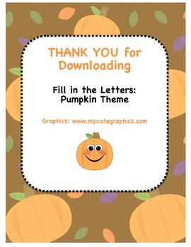 Pumpkins - Fill in the Letters