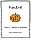 Pumpkins Freebie! Science & ELA Activities for Kindergarten