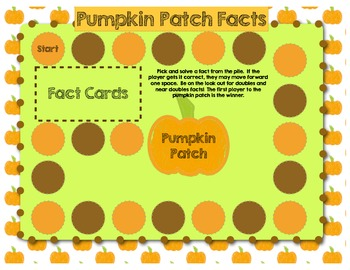 Pumpkins Galore! An Addition Math Facts Game