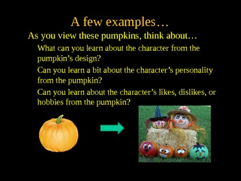Pumpkins Galore! Analyzing Characters and Narratives Creatively!