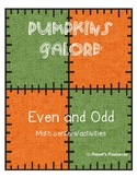 Pumpkins Galore- Even and Odd math games