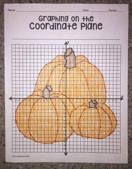Pumpkins (Graphing on the Coordinate Plane)