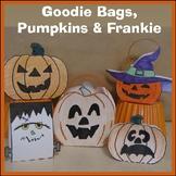 Pumpkins - Hallowe'en Goodie Bags, Decorations, Frankenstein & Cards