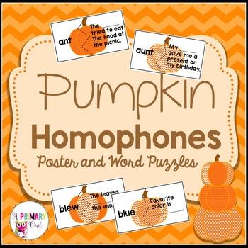Pumpkins Homophones
