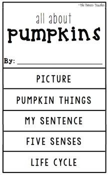 {Pumpkins} Information Flip Book