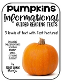 Pumpkins Informational/Nonfiction Guided Reading Texts