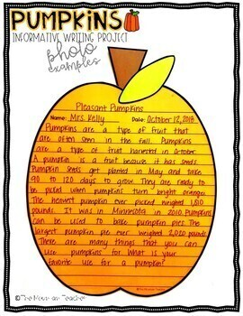 Pumpkins Informative Writing Project