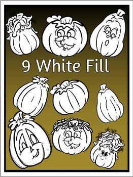 Pumpkins & Jack-O-Lanterns Clipart (9 FREE Elements Included)