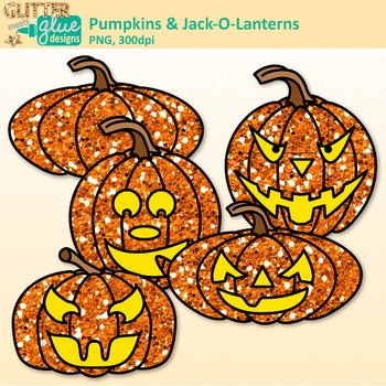 Halloween Pumpkin Clip Art {Jack-O-Lantern Graphics for Science Resources}