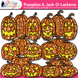 Halloween Pumpkin Clip Art | Jack-O-Lantern Graphics for Holiday Resources