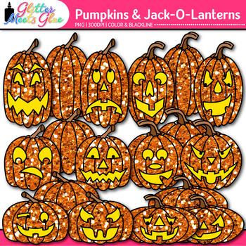 Halloween Pumpkin Clip Art: Jack-O-Lantern Graphics {Glitter Meets Glue}