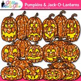 Halloween Pumpkin Clip Art: Jack-O-Lantern Graphics {Glitt