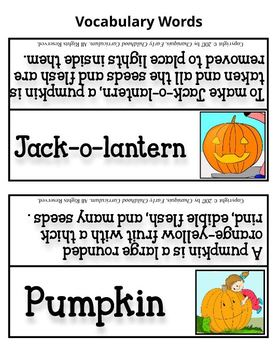 Pumpkins (Kindergarten Topic Unit 11)