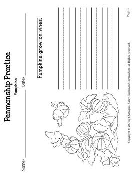 Pumpkins (Thematic Unit 11)