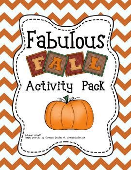 Pumpkins, Leaves, Scarecrows..Oh My! A Fall Literacy and Math Activity Packet