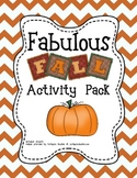 Pumpkins, Leaves, Scarecrows..Oh My! A Fall Literacy and M