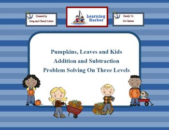 Pumpkins, Leaves, and Kids, Problem Solving on 3 Levels