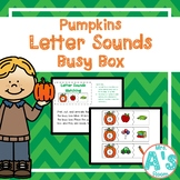 Pumpkins Letter Sounds Matching Busy Box