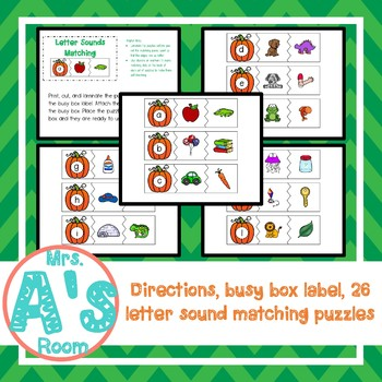 Pumpkins Letter Sounds Matching Busy Box