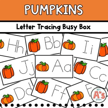 Pumpkins Letter Tracing Busy Box