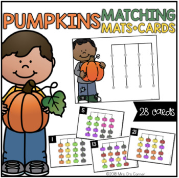 Pumpkins Matching Mats and Activity Cards (Patterns, Colors, and Matching)