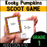 Pumpkins |  Math Scoot Game with Addition to Ten for First Grade