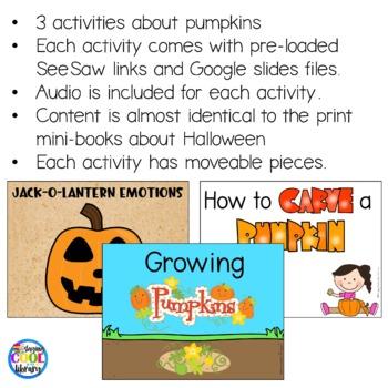 Pumpkins Mini Books