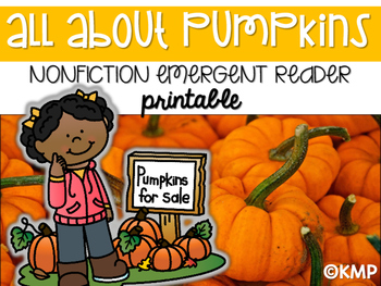 Pumpkins NONFICTION Emergent Reader Printable Book!