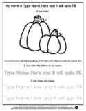 Pumpkins - Name Tracing & Coloring Editable Sheet - #60Cen