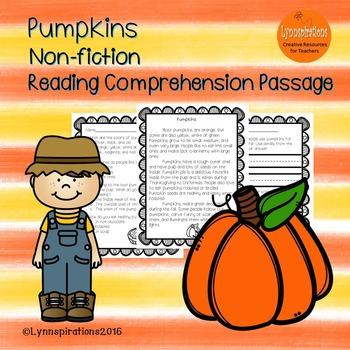 Pumpkins- Non-fiction Reading Comprehension Passage