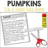 Pumpkins Nonfiction Facts Cut and Paste Worksheet