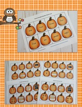 Pumpkins Number Sense Math Centers Bundle