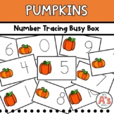 Pumpkins Number Tracing Busy Box