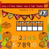 Pumpkins: Numbers 0-10 Using a 10-frame (Number Value to Digit)