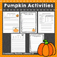 Pumpkin Activities Halloween: Observations, Estimation, Wr