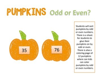 Pumpkins Odd or Even