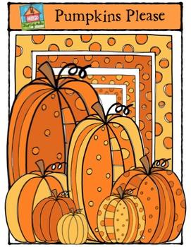 Pumpkins Please {P4 Clips Trioriginals Digital Clip Art