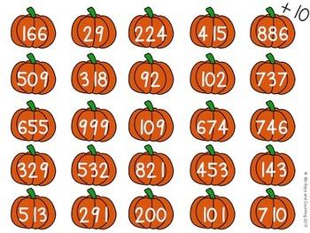 Pumpkins Plus Ten FREEBIE