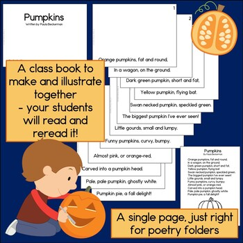 Pumpkins Poem Sight Word Guided Reading Book