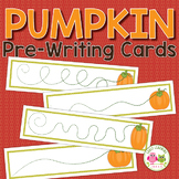 Pumpkins Pre-Writing Cards FREEBIE:  Fall Fine Motor Pract