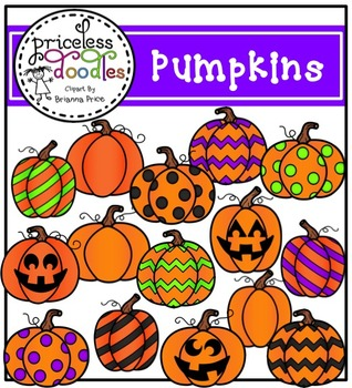Pumpkins Clipart Set (The Price of Teaching Clipart Set)